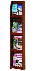 Slope Solid Wood Literature Display Rack - 8 Pocket by Wooden Mallet